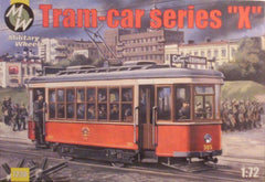 1/72 scale Russian streetcar plastic model kit.