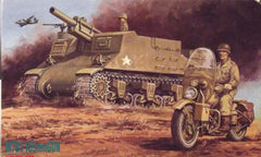 1/76 WW 2 US Army M7B1 Priest  AFV & motorcycle model kit.