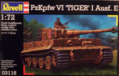 1/72 WW 2 German Tiger 1 Ausf. E AFV model kit.