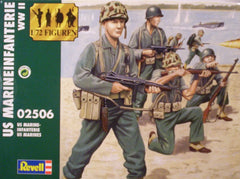 1/72 WW 2 U.S. Marine military figures.