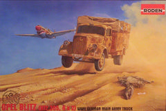 1/72 WW 2 German Opel Blitz cargo truck model kit.