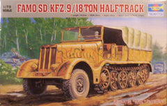 1/72 Famo 9/18 ton halftrack military vehicle model kit.
