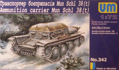1/72 WW 2 Soviet SCHL 38(t)ammo carrier AFV model kit.