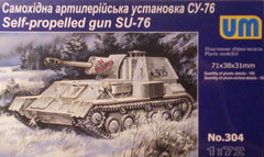 1/72 SU-76 WW 2 Soviet self-propelled gun AFV model kit.