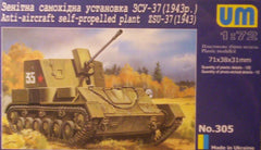 1/72 WW 2 Soviet ZSU-37 anti-aircraft model AFV kit.