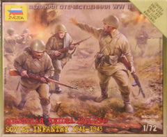 1/72 WW 2 Soviet Infantry military figures 1941 - 1943.