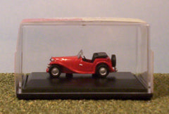 1/76 / OO gauge MG TC (red) die cast model car.