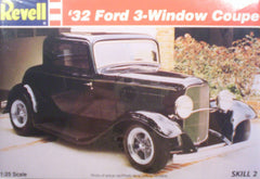 1/25 1932 3 - window coupe hot rod model car kit.