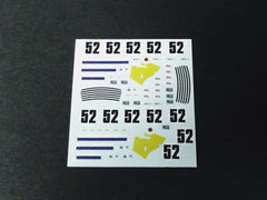 1/64 / HO Alfa Romeo Giulia GTV 1968 slot car decals.