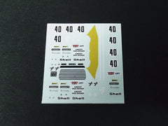 1/64 / HO Alfa Romeo Giulia GTV 1971 slot car decals.