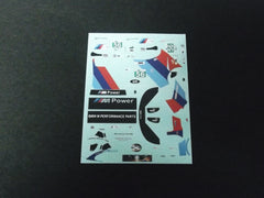 1/64 / HO BMW Z4 M Coupe GT3 M Power #56 slot car decals.