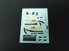 1/64 / HO BMW Z4 M Coupe GT3 Red Bull slot car decals.