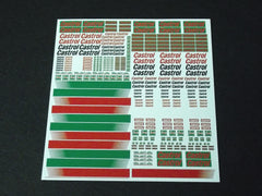 1/64 / HO Castrol Sponsor Logo slot car decals.