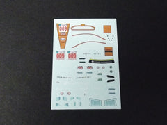 1/64 / HO Aston Martin DBR9 GT3 slot car decals.