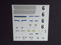 1/64 / HO Ferrari 312 PB #6 1972 slot car decals.