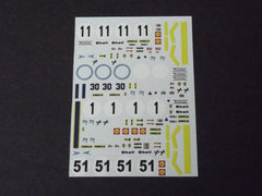 1/64 / HO Ferrari 312 PBs slot car decals.