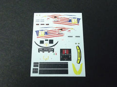 1/64 / HO Ferrari 458 Kaspersky #61 2012 slot car decals.