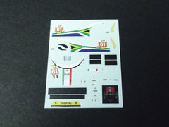 1/64 / HO Ferrari 458 Kaspersky #61 2013 slot car decals.