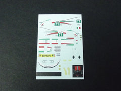 1/64 / HO Ferrari 458 Kaspersky #71 2012 slot car decals.