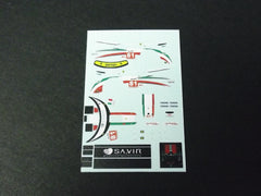 1/64 / HO Ferrari 458 Kaspersky #81 2012 slot car decals.