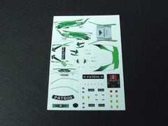 1/64 / HO Ferrari 458 Patron #01 ALMS 2011 slot car decals.