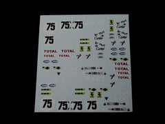 1/64 / HO Ferrari Daytona slot car decals.