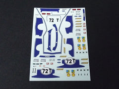 1/64 / HO Ford Capri slot car decals.