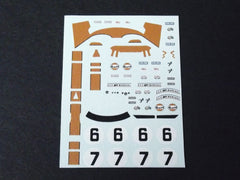1/64 / HO Ford GT40 Gulf Le Mans 1969 slot car decals.
