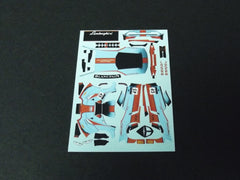 1/64 / HO Lamborghini Huracan GT3 slot car decals.