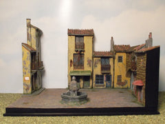 "1/72 WW 2 diorama kit, ""Italian Village Square""."