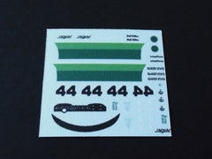 1/64 / HO Jaguar E-Type LW slot car decals.