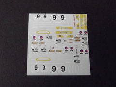 1/64 / HO Matra 650 slot car decals.