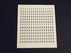 1/64 / HO slot car decals Number Sheet # 3.