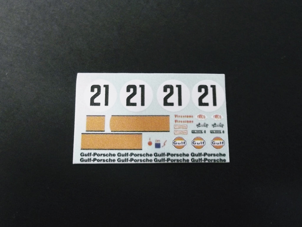 6-1:24 decal estampados Gulf patrocinadores arco no