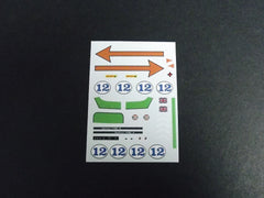 1/64 / HO Porsche 908/3 slot car decals.