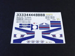 1/64 / HO slot car decals, Porsche 917 Daytona 1971.