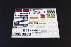 1/64 / HO slot car decals,Porsche 917 Martini, early 1971.