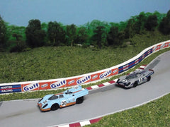 1/64 Gulf & Martini model slot cars.