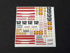 1/64 / HO Porsche 917 Shell Sponsor #12 slot car decals.