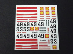 1/64 / HO Porsche 917 Shell Sponsor #49 slot car decals.