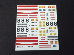 1/64 / HO Porsche 917 Shell Sponsor #8 slot car decals.