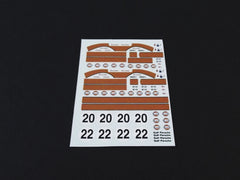 1/64 / HO slot car decals,Porsche 917 Steve McQueen Decals.