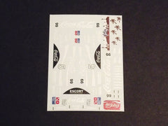 1/64 / HO slot car decals,Porsche 962 Coca Cola sponsor.