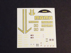 1/64 / HO slot car decals,Porsche 962 Momo 1988 sponsor.