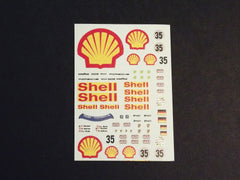 1/64 / HO slot car decals,Porsche 962 Shell sponsor Le Mans '94.
