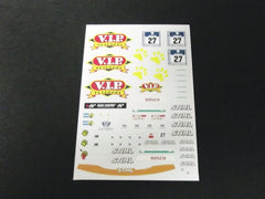 1/64 / HO Porsche 911/997 GT2 slot car decals.