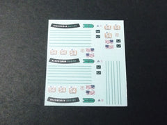 1/64 / HO Porsche 911/997 GT3 slot car decals.