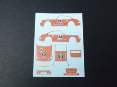 1/64 / HO Porsche 911 Turbo RSR Jagermeister slot car decals.