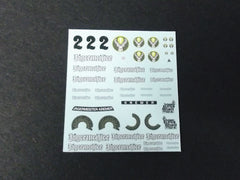 1/64 / HO Porsche 911/934 Turbo RSR slot car decals.