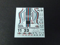 1/64 / HO Porsche 911 RSR slot car decals.